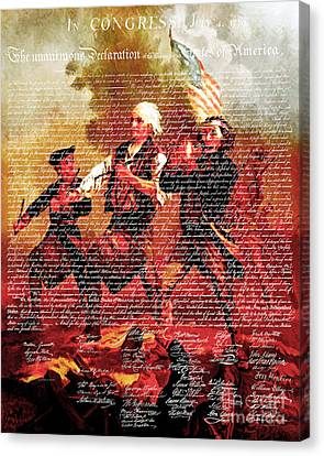 The United States Declaration Of Independence And The Spirit Of 76 20150704v3 Canvas Print