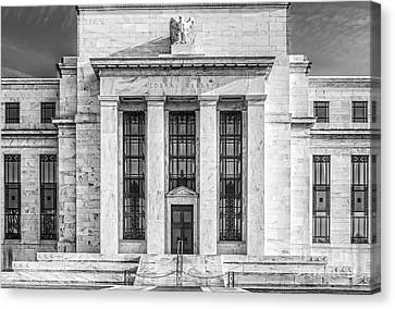 The United States Federal Reserve Bw Canvas Print by Susan Candelario