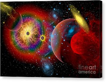 Celestial Canvas Print - The Universe In A Perpetual State by Mark Stevenson