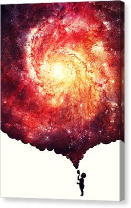The Universe In A Soap Bubble Canvas Print by Philipp Rietz