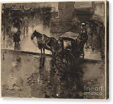 The Up-tide On The Avenue Canvas Print