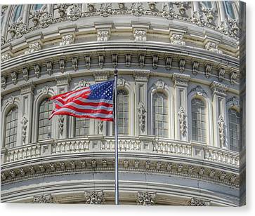 Fourth Of July Canvas Print - The Us Capitol Building - Washington D.c. by Marianna Mills