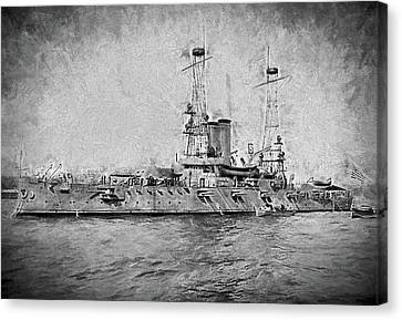 The Uss Alabama Dreadnaught Canvas Print