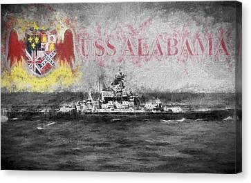 The Uss Alabama Canvas Print