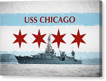 The Uss Chicago Canvas Print by JC Findley