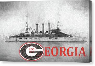 The Uss Georgia Canvas Print by JC Findley