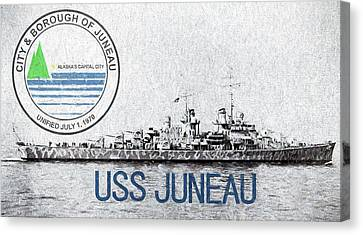 The Uss Juneau Canvas Print by JC Findley