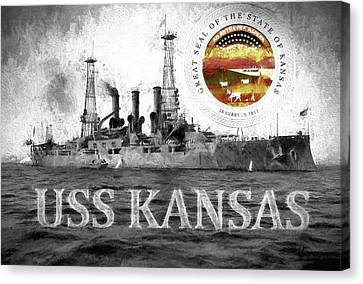 The Uss Kansas Canvas Print by JC Findley
