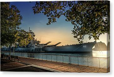 The Uss New Jersey Canvas Print