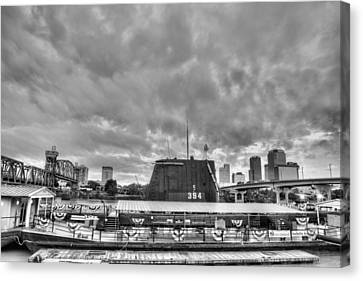 The Uss Razorback In Black And White Canvas Print by JC Findley