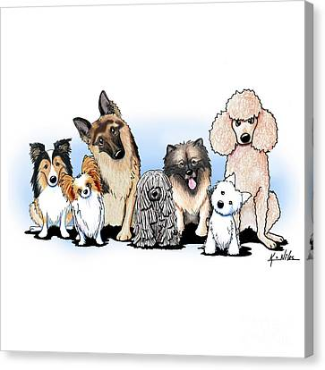The Usual Suspects 3 Canvas Print by Kim Niles