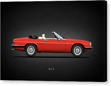 The V12 Xj-s Canvas Print by Mark Rogan