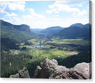 The Valley Below Canvas Print by CGHepburn Scenic Photos