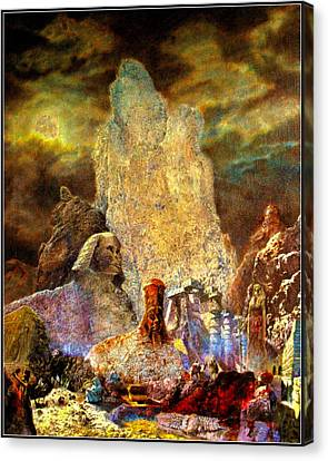 The Valley Of Sphinks Canvas Print by Henryk Gorecki