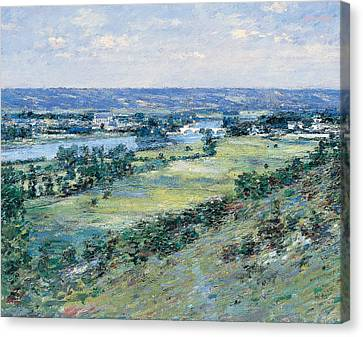 The Valley Of The Seine From The Hills Of Giverny Canvas Print