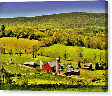 The Valley Canvas Print by William Jones