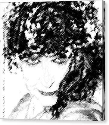 Canvas Print featuring the digital art The Vamper by Ellen Barron O'Reilly