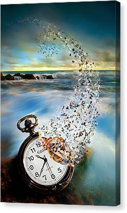 The Vanishing Time Canvas Print by Sandy Wijaya