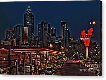 Atlanta Convention Canvas Print - The Varsity Atlanta by Corky Willis Atlanta Photography