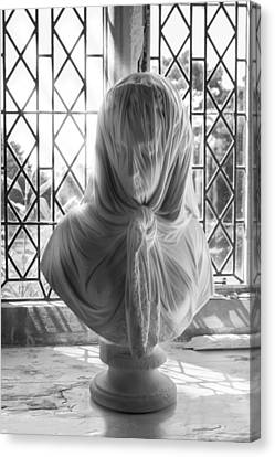 Canvas Print featuring the photograph The Veiled Lady by Stewart Scott