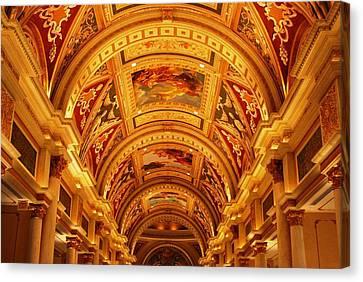 Canvas Print featuring the photograph The Venetian Hall In Las Vegas by Matt Harang