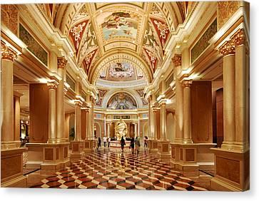 The Venetian Hotel Lobby  Las Vegas Canvas Print