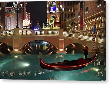 Canvas Print featuring the photograph The Venetian Las Vegas by Dung Ma
