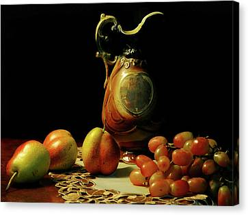 Old Pitcher Canvas Print - The Venetian Pitcher by Diana Angstadt