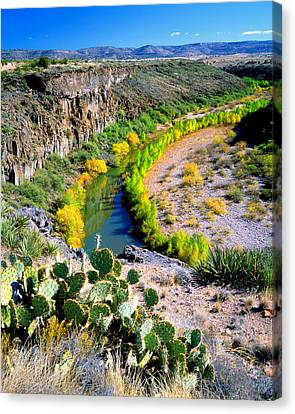 Verde Valley Canvas Print - The Verde River by Frank Houck