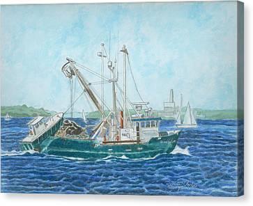 The Vessel Ocean Venture - Portland Harbor Canvas Print