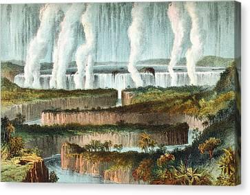 The Victoria Falls Or Mosi-oa-tunya Canvas Print