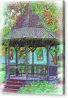 The Victorian Gazebo Sketched Canvas Print by Kirt Tisdale