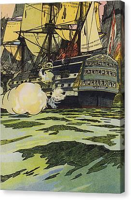 The Victory At Trafalgar  Canvas Print by English School