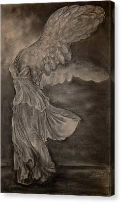 The Victory Of Samothrace Canvas Print by Julianna Ziegler