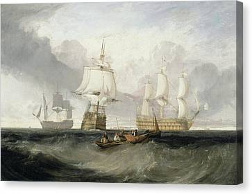 Water Vessels Canvas Print - The Victory Returning From Trafalgar by Joseph Mallord William Turner