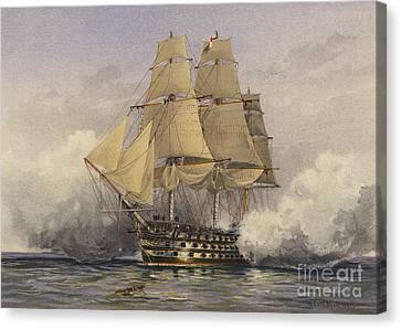 Lord Admiral Nelson Canvas Print - The Victory by William Frederick Mitchell
