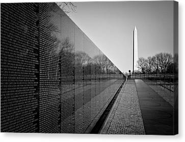 Vietnam Canvas Print - The Vietnam Veterans Memorial Washington Dc by Ilker Goksen