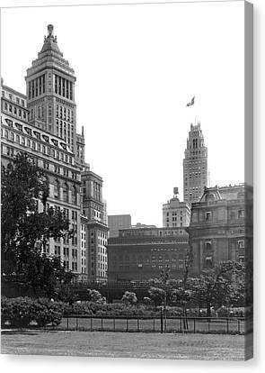 The View From Battery Park Canvas Print by Underwood Archives