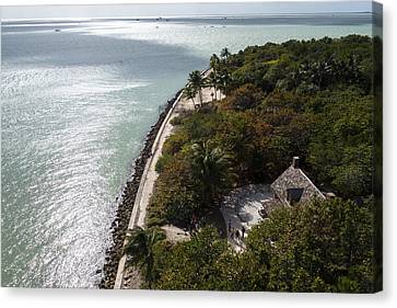 The View From Bigg Baggs Lighthouse On Key Biscayne Florida Canvas Print