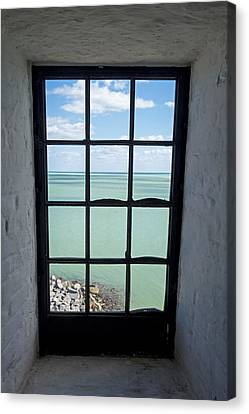 The View From The Lighthouse Window Bill Baggs Lighthouse Key Biscayne Florida Canvas Print