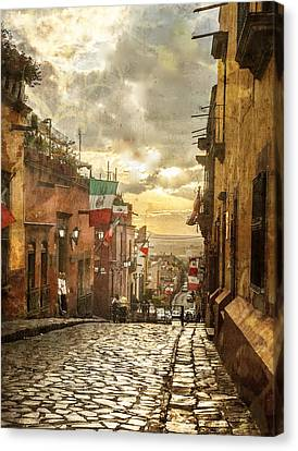 The View Looking Down Canvas Print by Barry Weiss