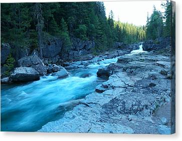 The View Of A River Canvas Print by Jeff Swan