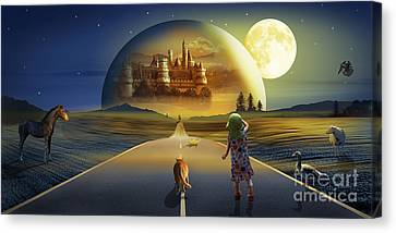 The View To The World Of Fairy Tales Canvas Print by Monika Juengling