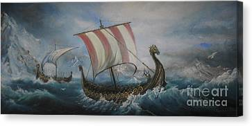 The Vikings Canvas Print by Sorin Apostolescu