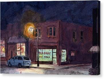 The Village Canvas Print by Arthur Barnes