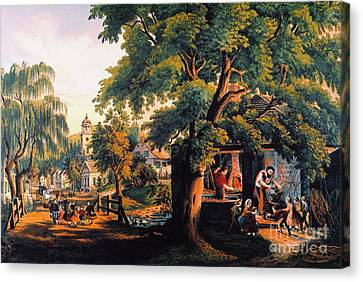 The Village Blacksmith Canvas Print by Granger
