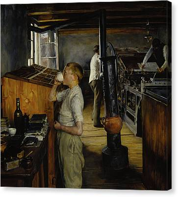 The Village Printing Shop -  Haarlem Holland Canvas Print