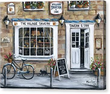 The Village Tavern Canvas Print by Marilyn Dunlap