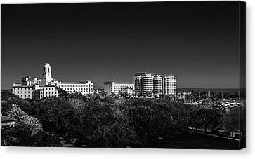 Oak Harbor Canvas Print - The Vinoy Resort Hotel B/w by Marvin Spates