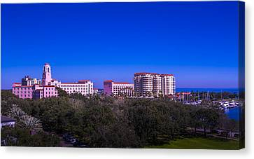 Oak Harbor Canvas Print - The Vinoy Resort Hotel by Marvin Spates